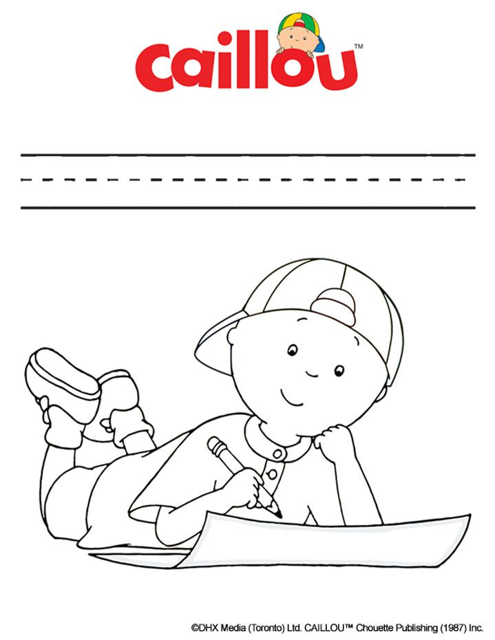 Caillou Coloring Sheet Handwriting Fun Cartoon Coloring Pages Caillou Coloring Pages For Boys