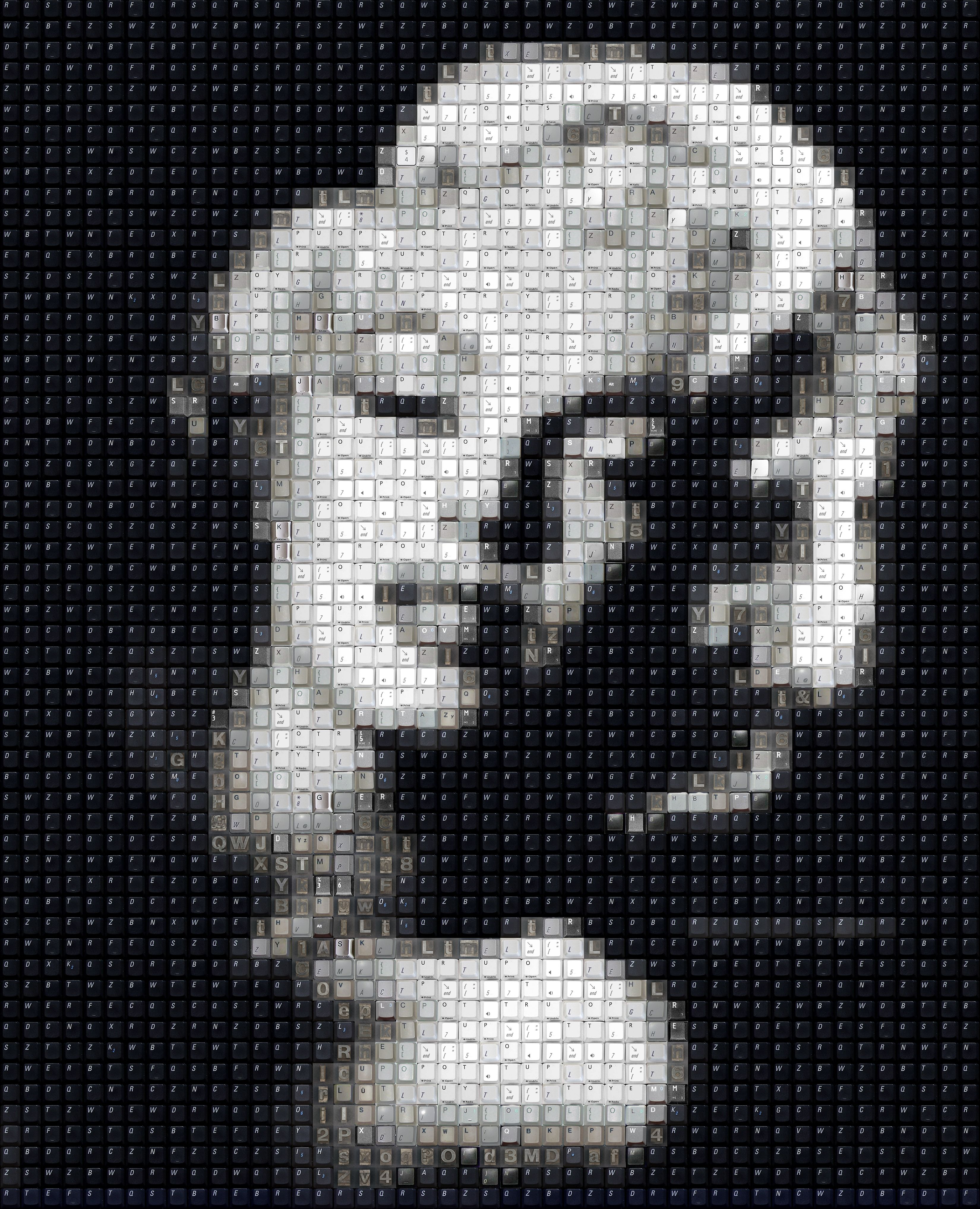 c698e24d81 WBK Marilyn Monroe by *workbyknight on deviantART ~ Click through to see  zoomed image & how this image is made of keyboard keys!