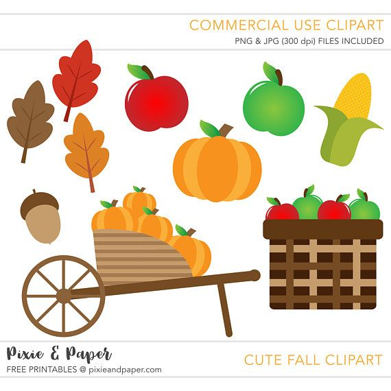 commercial use cute fall season clipart by pixie paper on etsy 2 rh pinterest com free commercial use christmas clipart free commercial use clipart images