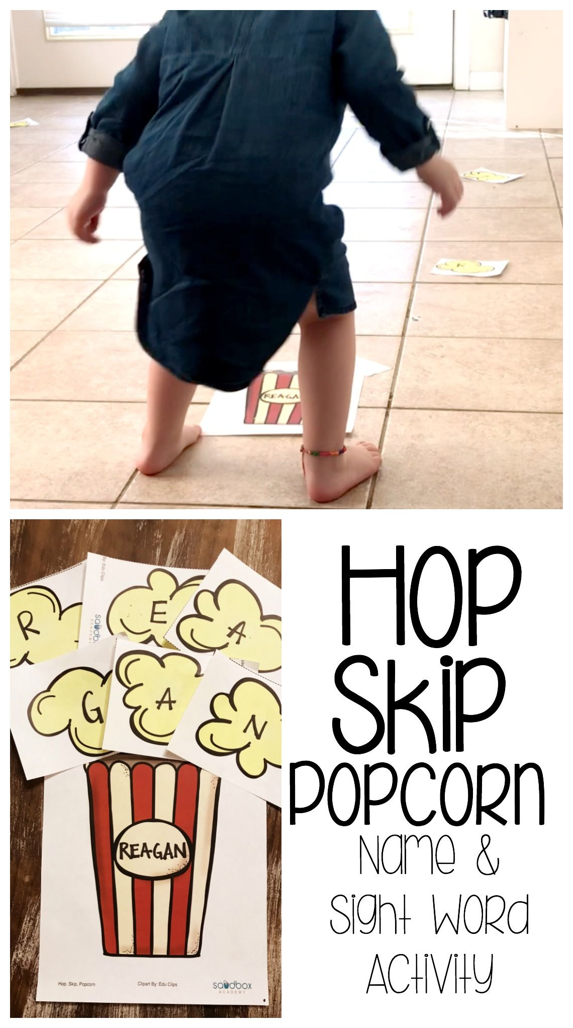 Name And Sight Word Activity For Toddlers And Preschoolers