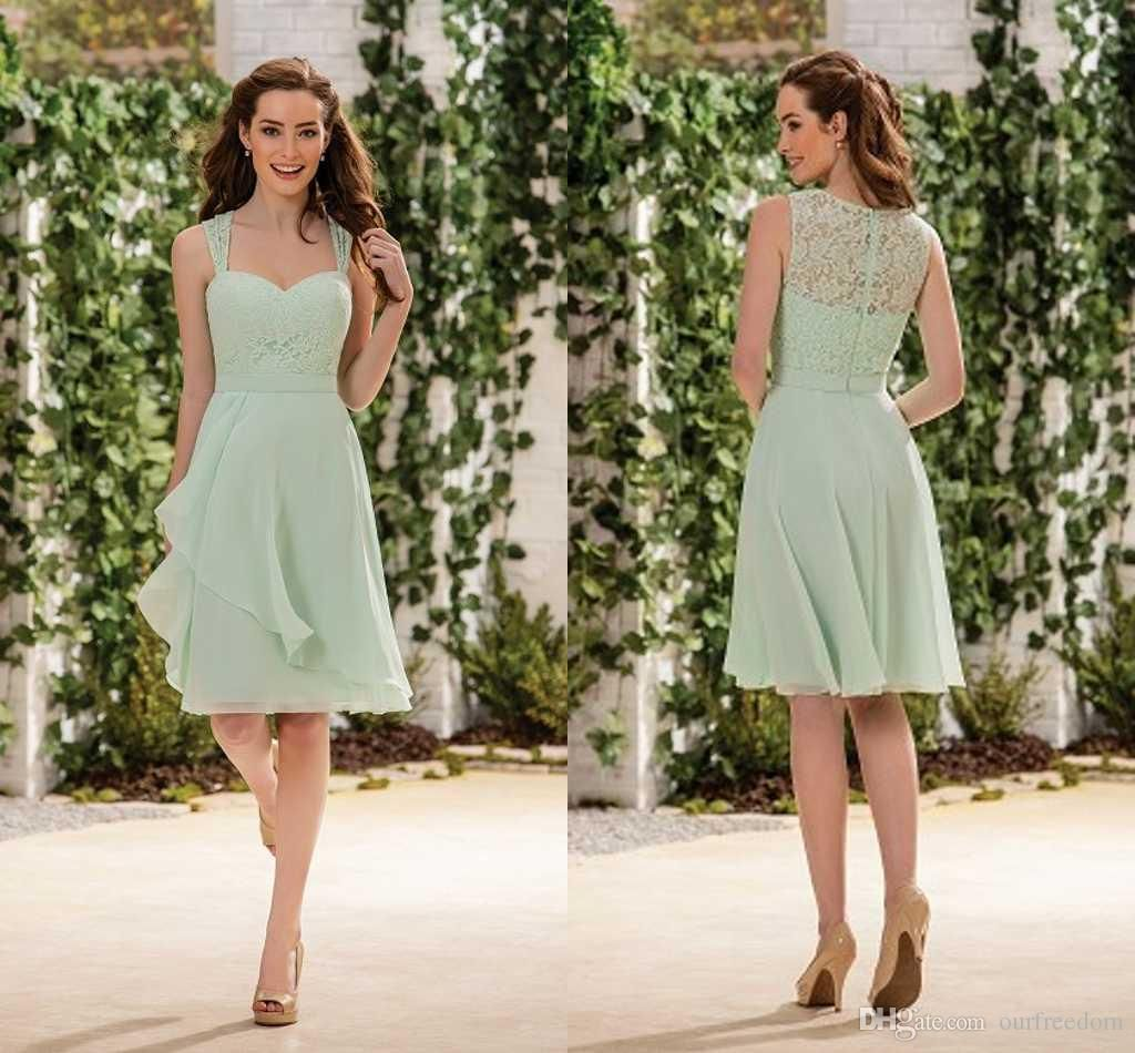 Sage lime chiffon short bridesmaid dresses 2016 cheap spaghetti mint green jasmine short cheap bridesmaid dresses sleeveless a line knee length ombrellifo Images