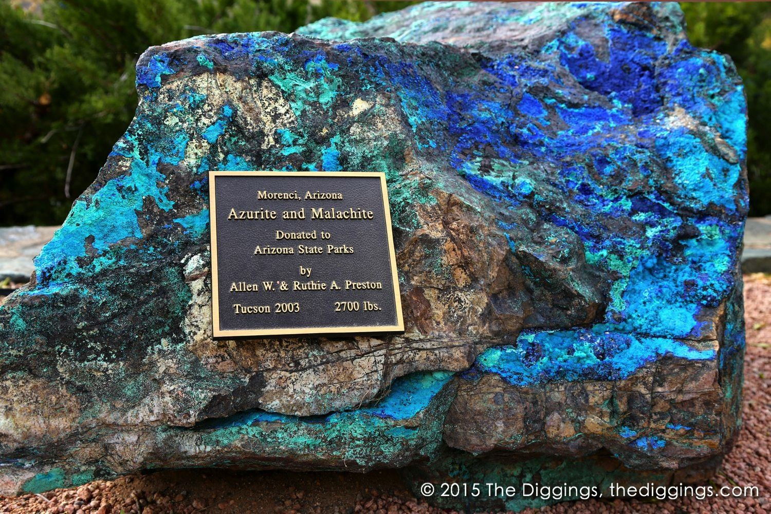 Azurite and Malachite at the Jerome State Historic Park:  http://blog.thediggings.com/jerome-state-historic-park/