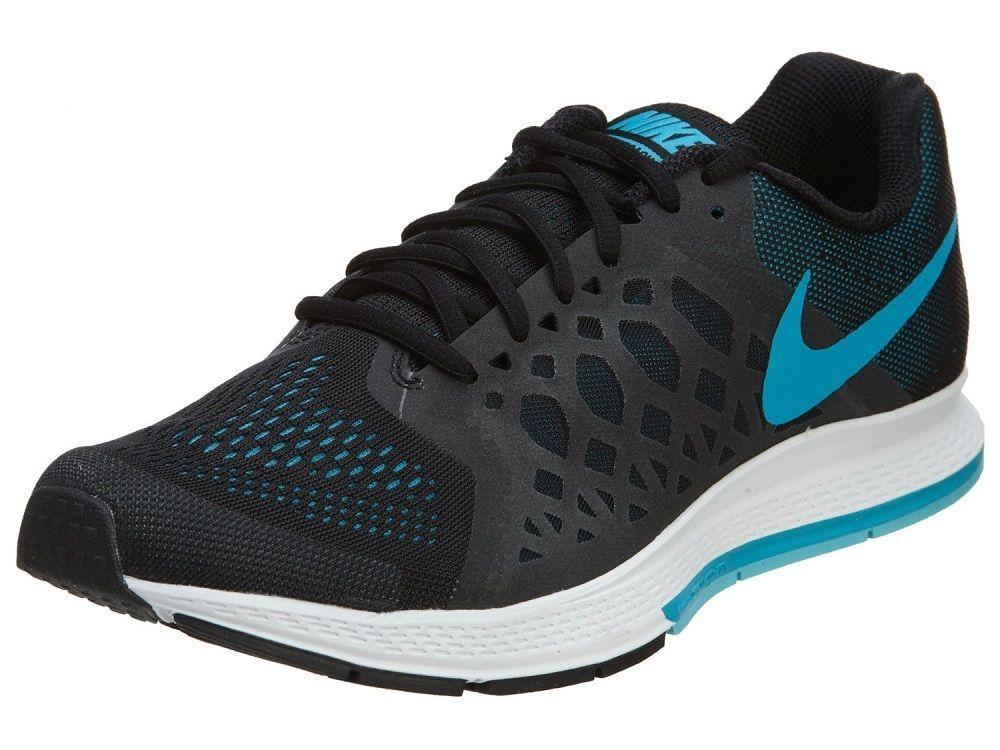 Nike Men's Air Pegasus 31 Running Shoes 652925 004 Black/Blue Lagoon/White #