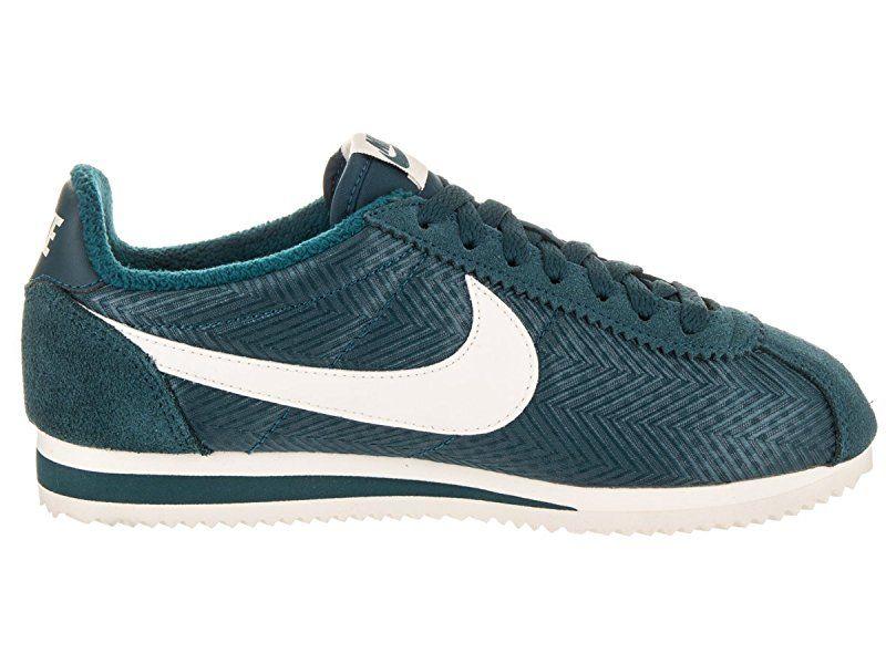 Nike Women s Classic Cortez Txt Midnight Turq Sail Casual Shoe 7.5 Women US e95b77c08