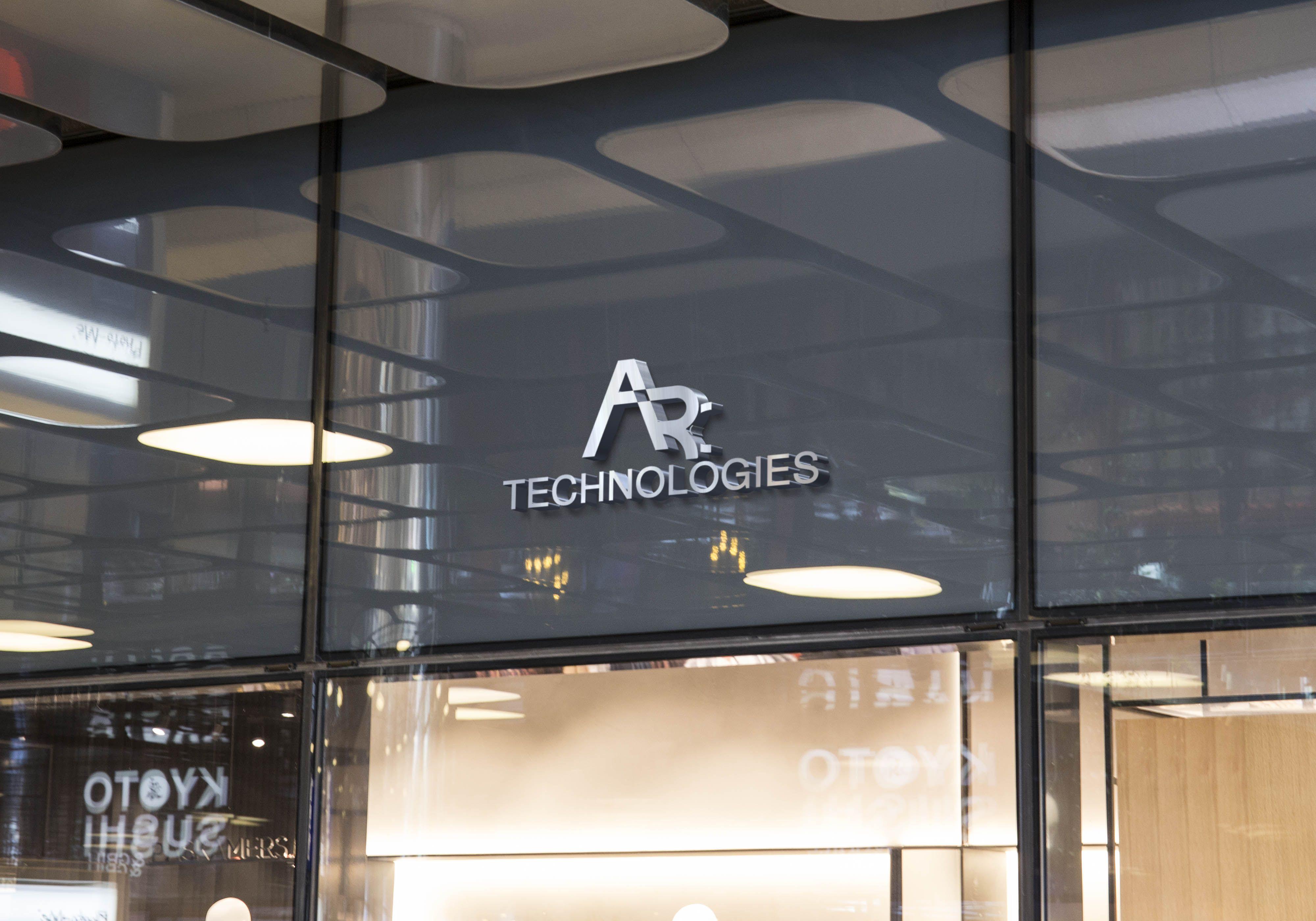 Arc Technologies Logo Shop Facade Logo Mockup Design