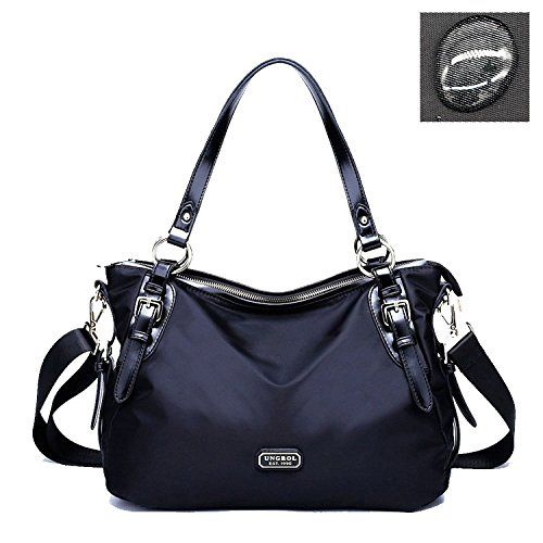 Ungrol Water Resistant Womens Classic Shoulder Bag Crossbody Bag Black * You can get additional details at the image link.