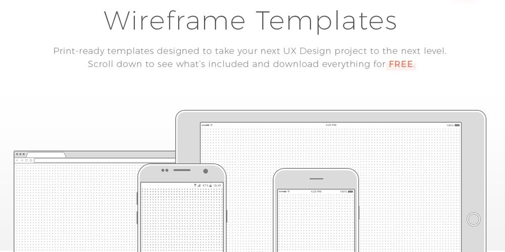 Free Wireframe Templates Psd Wireframe Template Wireframe Template Design