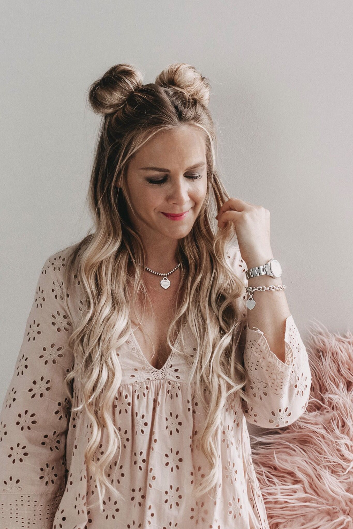 Two buns | Hair styles, Birthday hairstyles, Two buns ...
