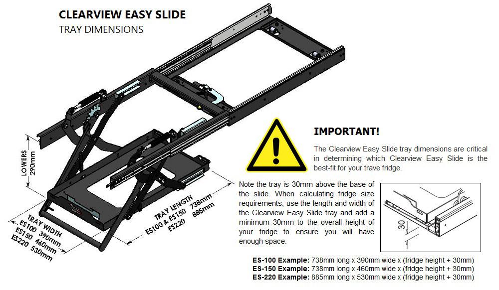 Easy Slide Lowering Fridge Slide Es 100plus Ute Canopy Fridge Sizes Portable Refrigerator