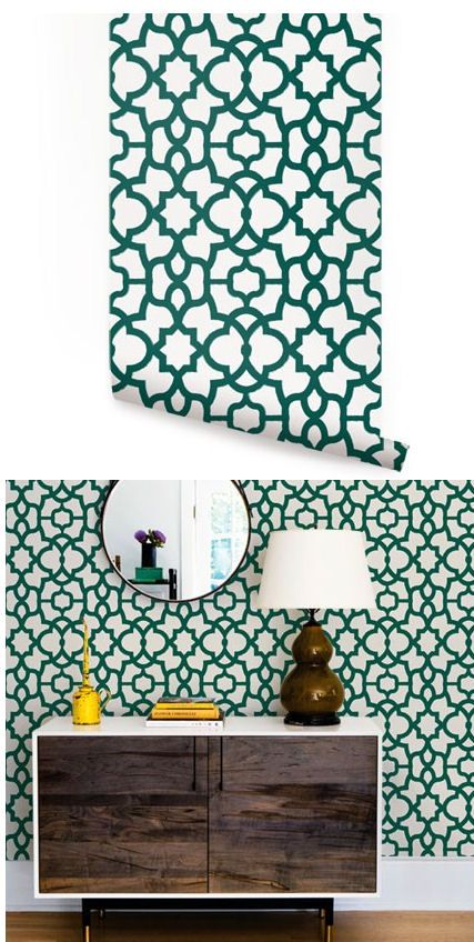 Trellis Forest Green Peel And Stick Wallpaper   Wall Sticker Outlet
