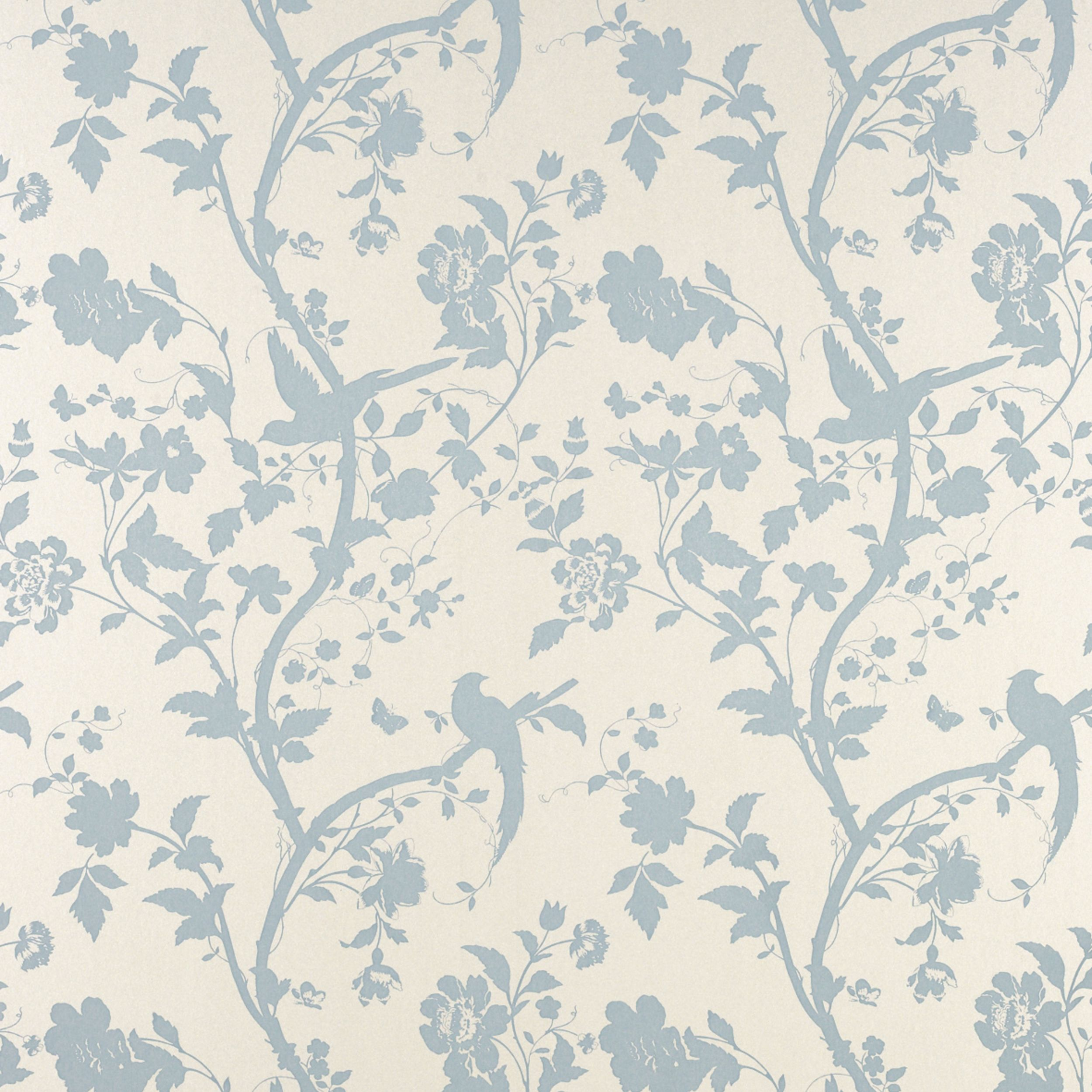 Oriental garden duck egg floral wallpaper love it for Oriental style wallpaper uk