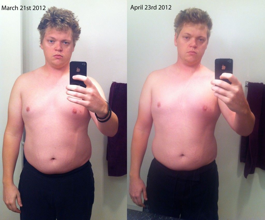 diet 1 month before after