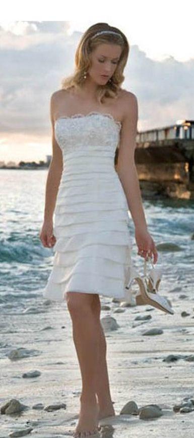Short beach wedding dress | ♛Short Wedding, Reception, Rehearsal ...