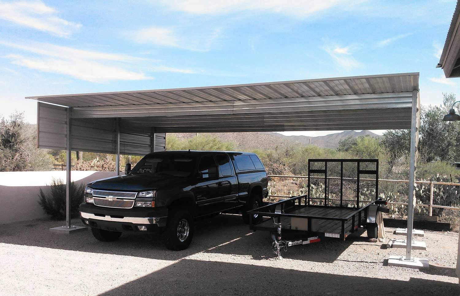 Steel Single Slope Carport Building A Patio Carport Kits Carport