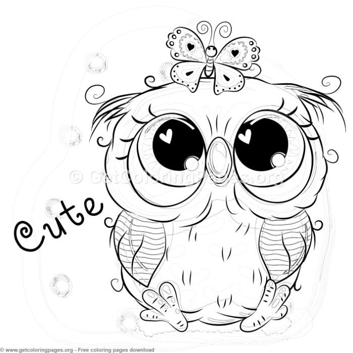 cute baby owl animals coloring pages | 25 Cute Owl Coloring Pages – GetColoringPages.org # ...