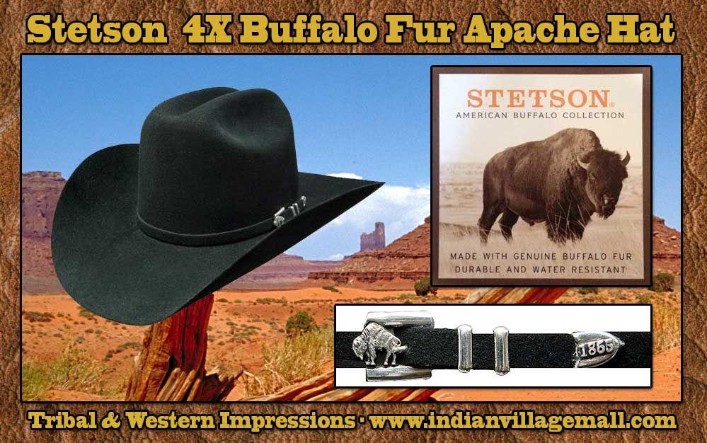 Stetson Apache 4X Buffalo Fur Hat- Review off of: http://www.indianvillagemall.com/stetsonbuffalofurhats.html