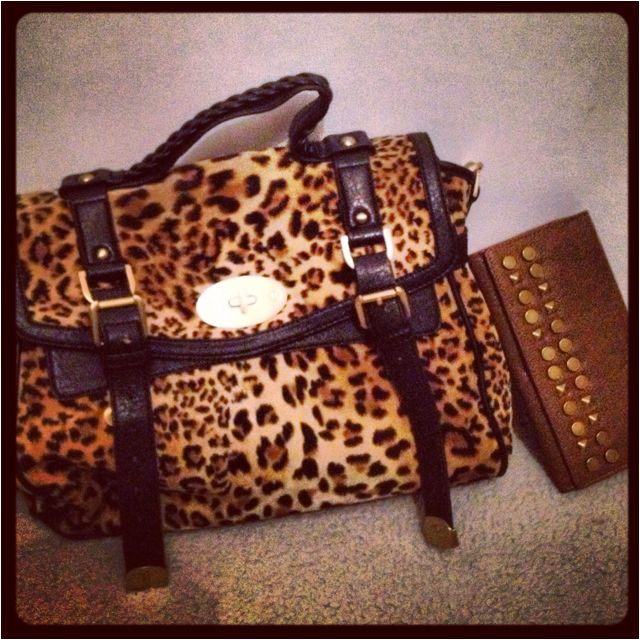 Cartera animal print Prüne