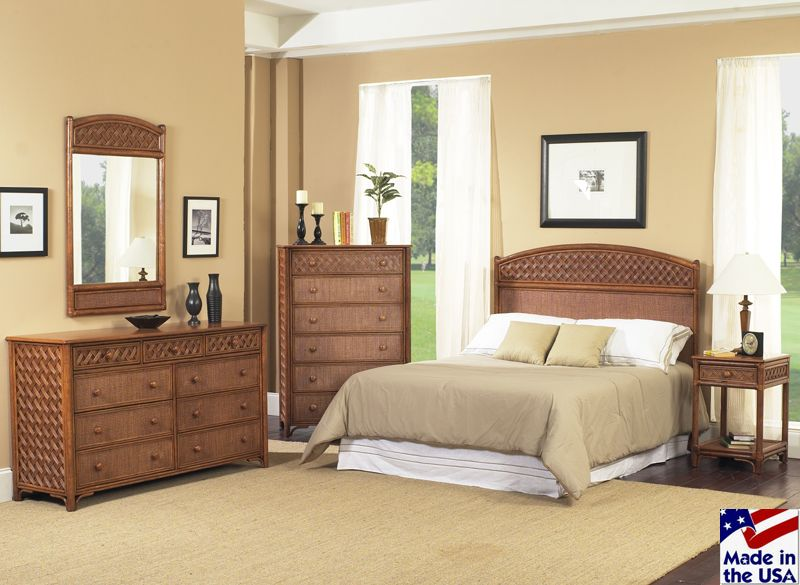 Monte Carlo Rattan And Wicker Bedroom Set By Clic