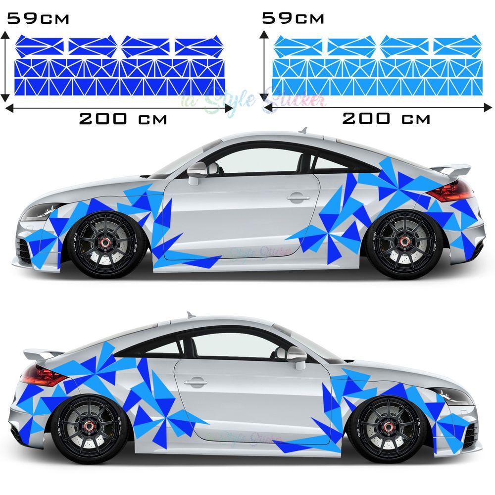Aufkleber Dreiecke Auto Sticker Car Tattoo New Eckig Decal Mix Set 2 Farbig S32 Car Tattoos Car Toy Car