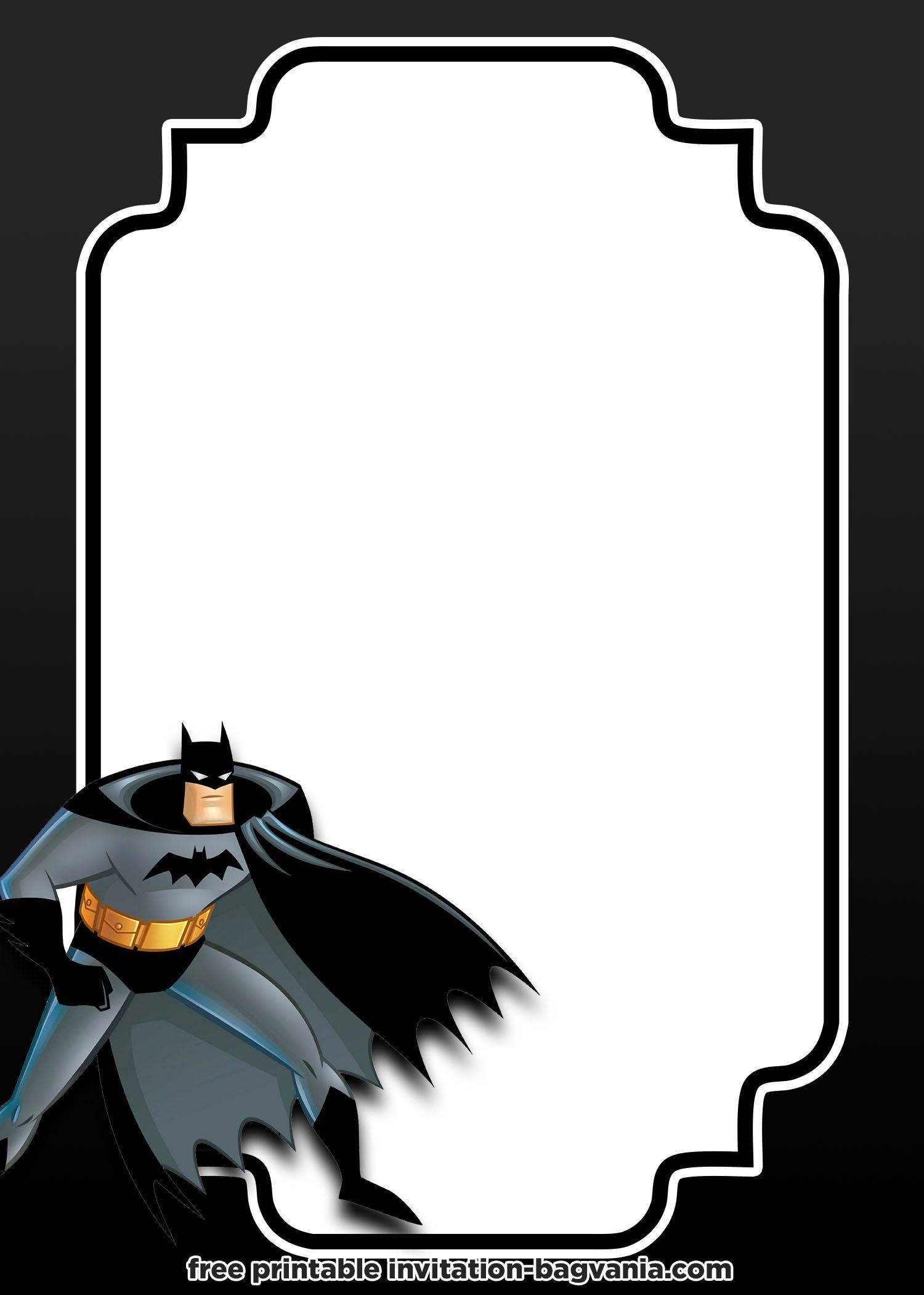 Free Printable Batman Invitation Templates Batman Invitations Batman Birthday Invitations Batman Invitation Template