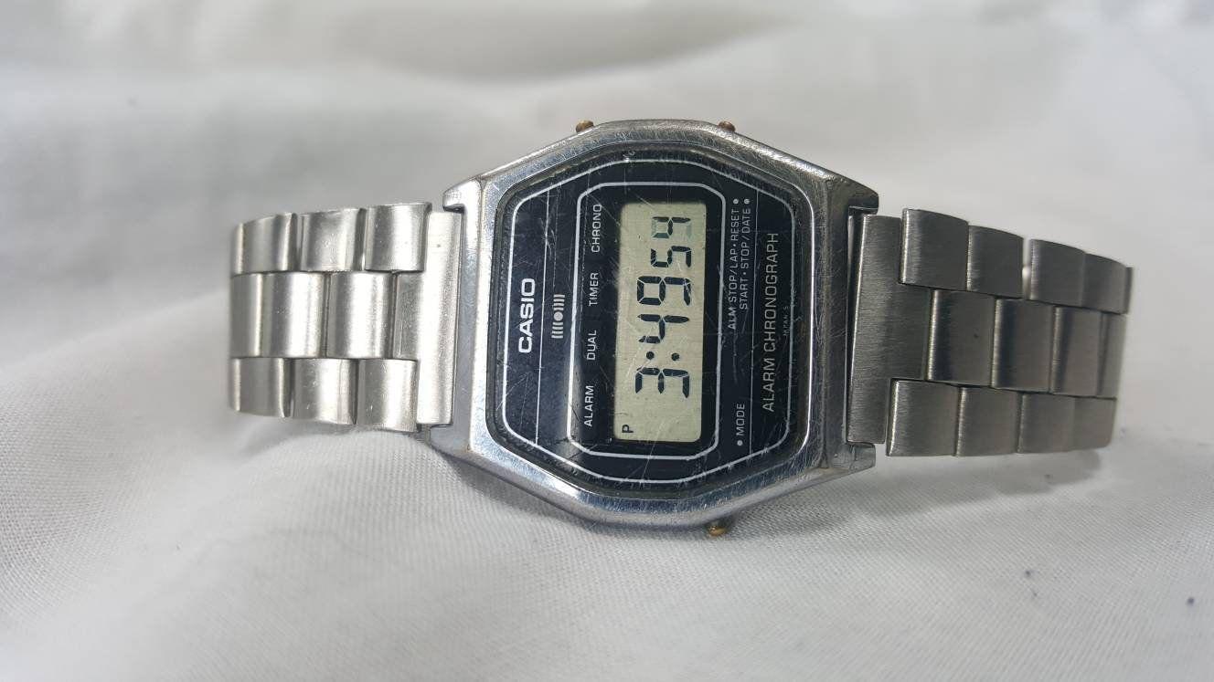 135d5d8f1 Rare Casio 145 SA-54 Digital Watch, Retro 1980s Digital Watch, Casio Watch