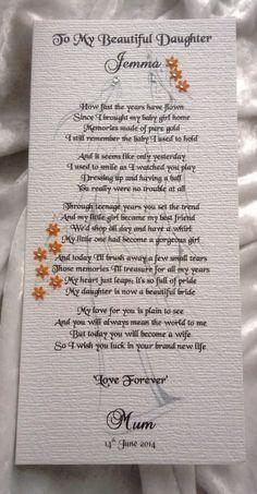 Image Result For Poem For Daughter S Wedding Day Mother Wedding Poems Poem To My Daughter Daughter Wedding Gifts