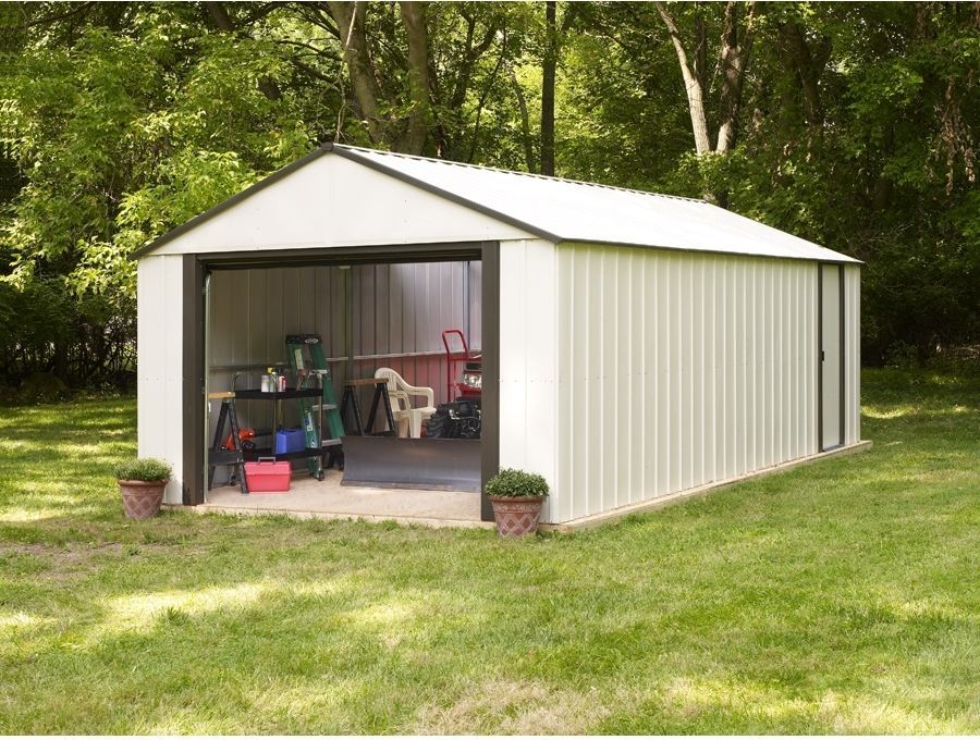steel storage shed atv dirt bike backyard garage tools