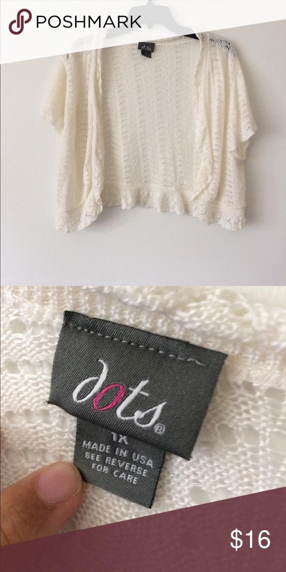 Dot's} Plus size cream colored Shrug | Knit shrug, Customer ...