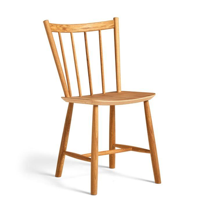 Hay   J41 Chair, weiß   Windsor stühle, Eiche geölt, Stühle