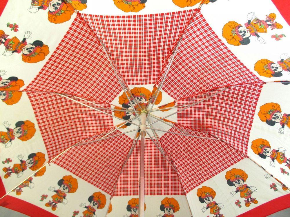 Vintage Disney Minniemouse Umbrella W Micky Handle Disney Vintage Disney Disney Vintage
