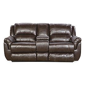 Best Simmons™ Laguna Espresso Motion Console Loveseat At Big 400 x 300