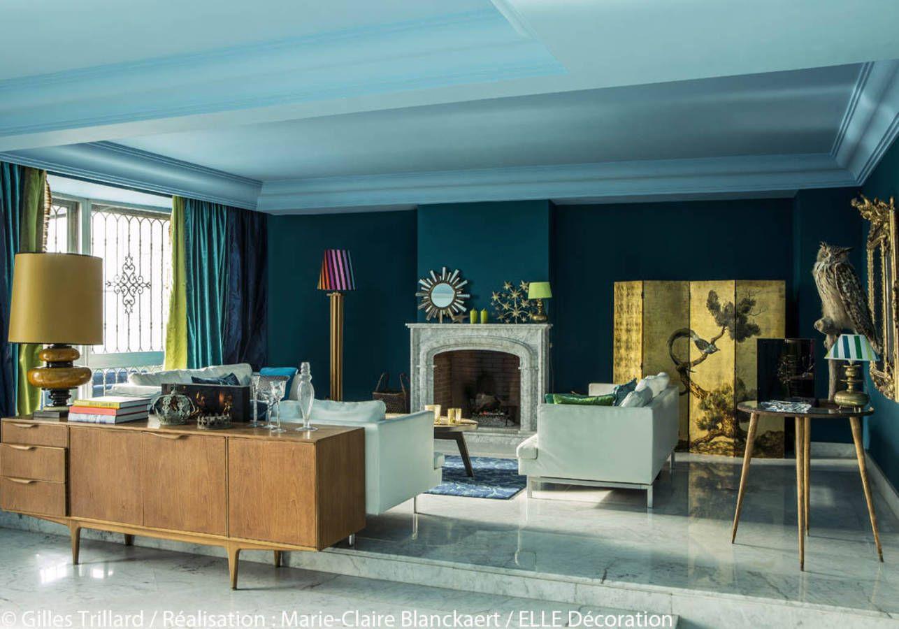 Peindre Murs En Bleu Et Vert Dans Appartement Sympa Lappartement