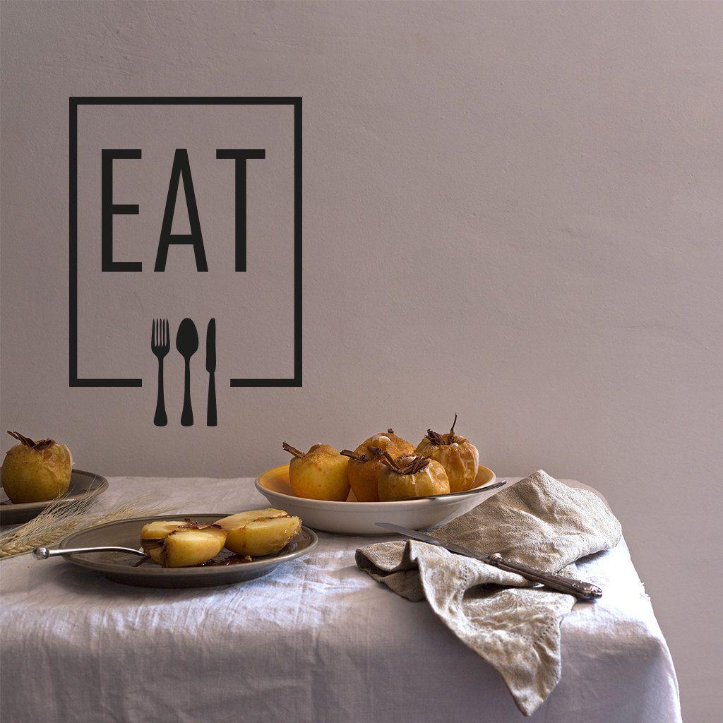 Wand-Aufkleber: Eat 32 x 45 cm