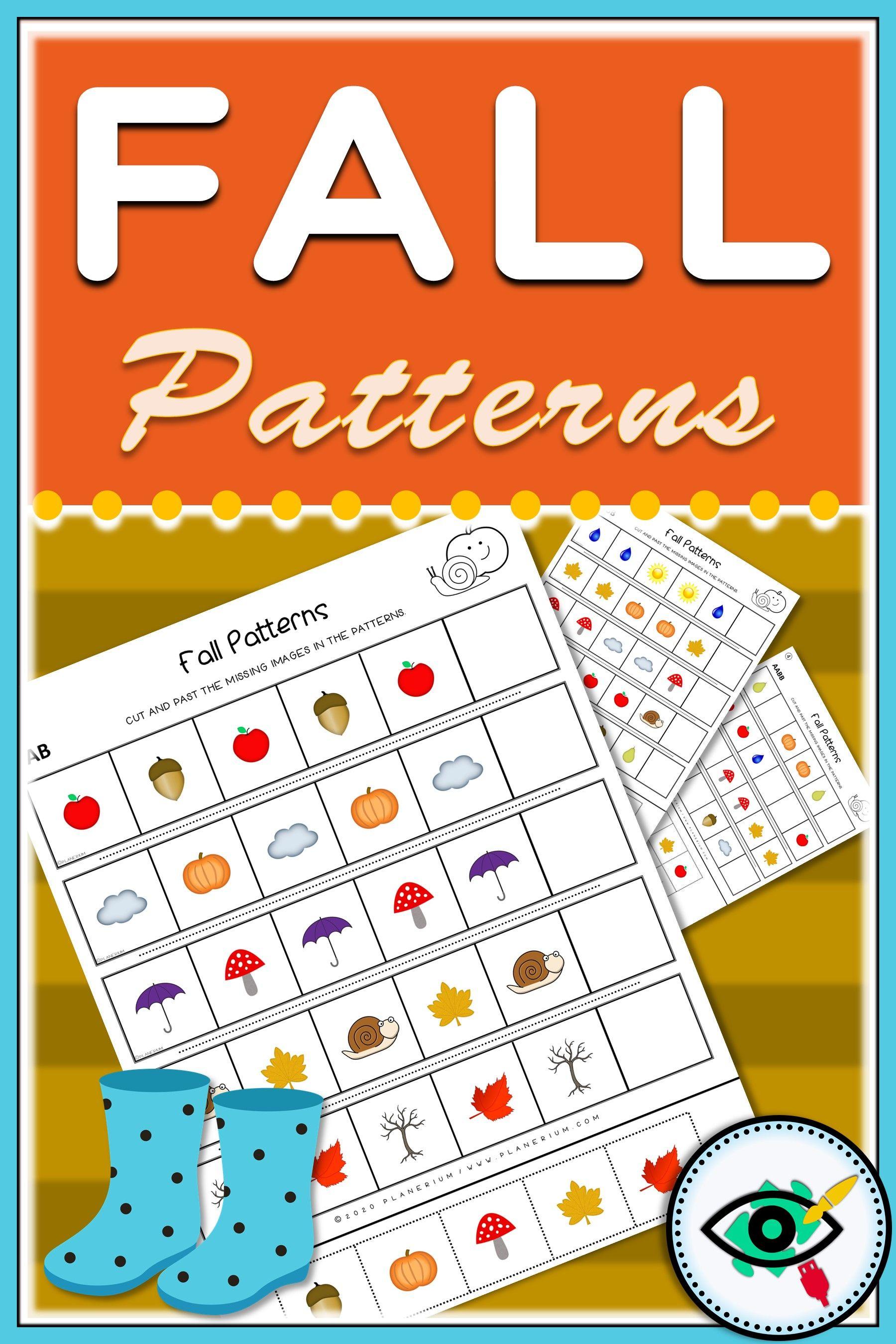Fall Kids Patterns Printable In