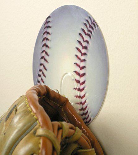 Baseball Self Adhesive Utility Hook For Boys Bedroom Bathroom Back To School Locker Wall Hanger Decoration