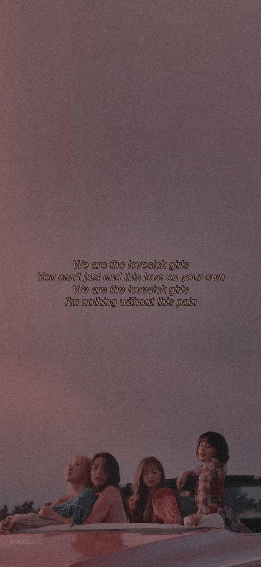 Lyrics lovesick girls blackpink