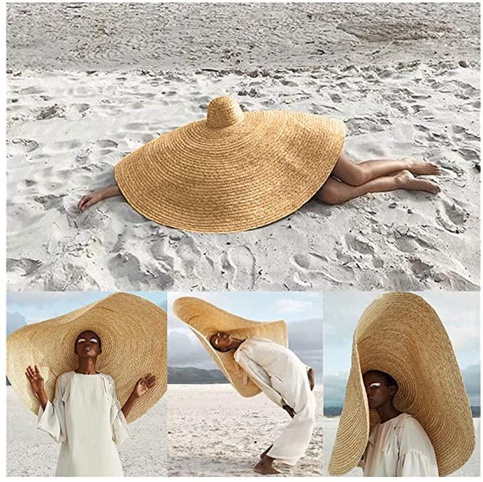 Amazon Com Wenini 2019 Hottest Womens Fashion Huge Sun Hat Novelty Unisex Summer Large Sun Hat Beach Anti Uv Sun Protecti In 2021 Sun Hats Mens Sun Hats Summer Hats