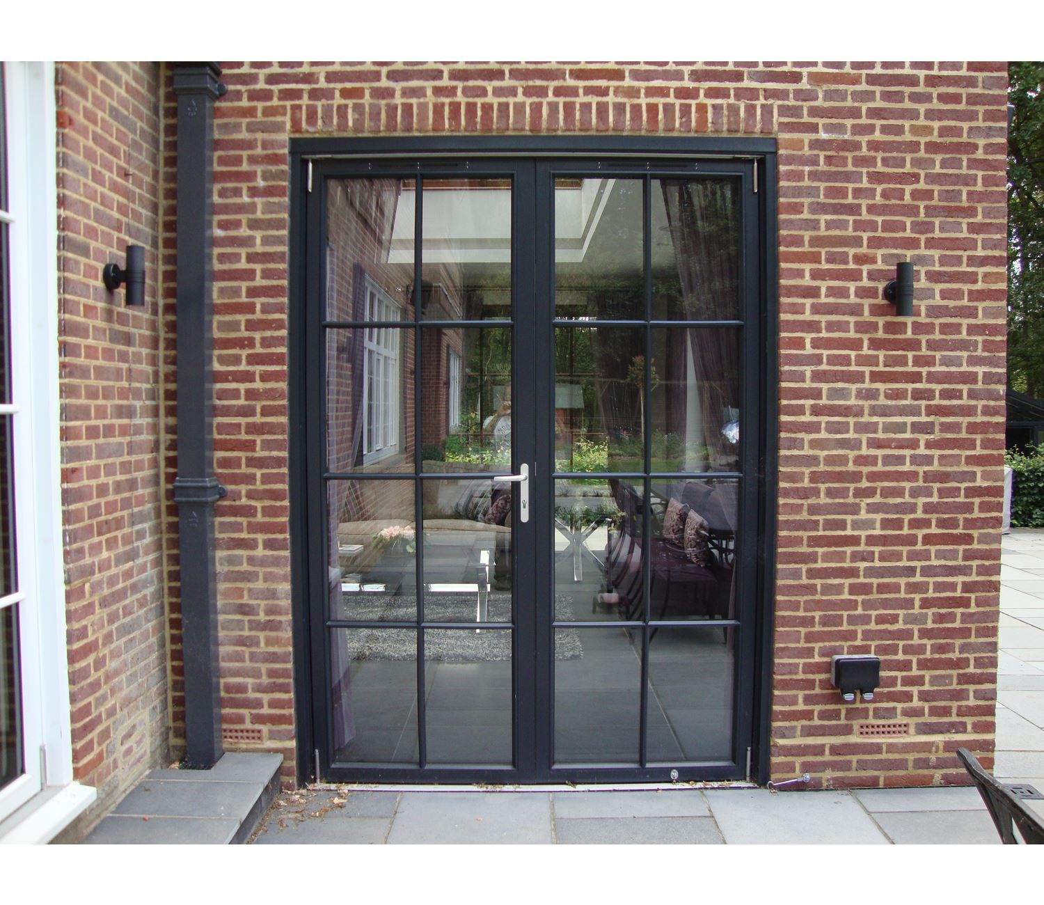 Aluminium french doors google search windows for Black french doors exterior