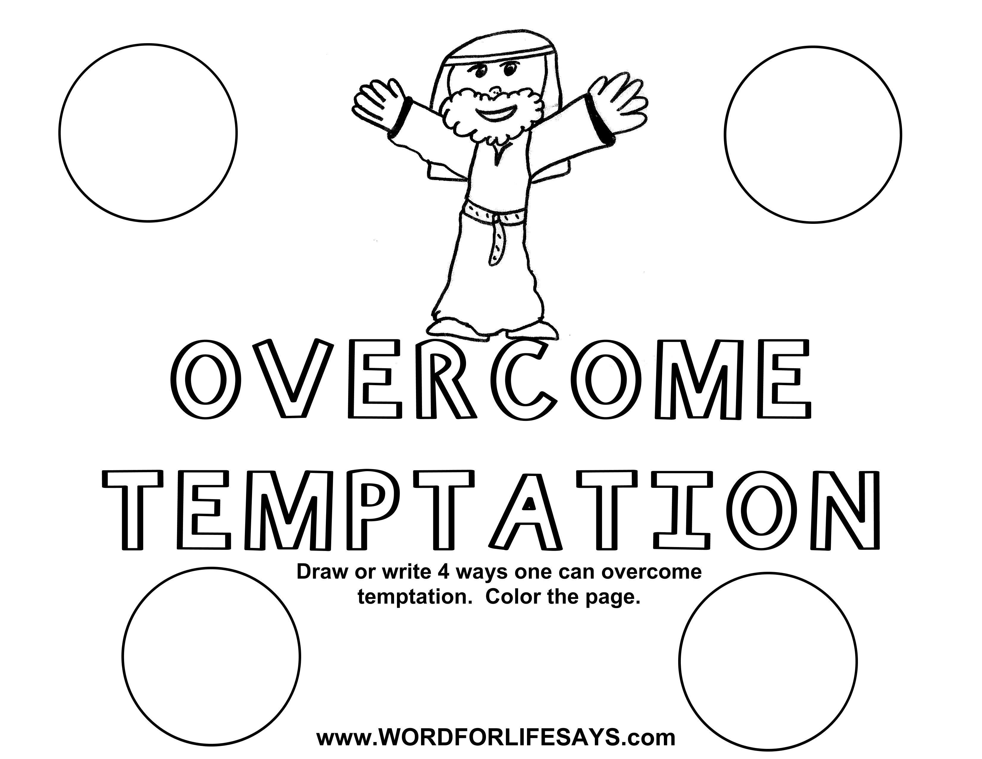 Jesus Temptation Sunday School Activity