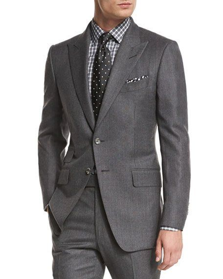 TOM FORD OConnor Base MiniTextured TwoPiece Suit, Gray is part of Suits - Shop O'Connor Base MiniTextured TwoPiece Suit, Gray from TOM FORD at Bergdorf Goodman, where you'll find free shipping on a fantastic selection of unparalleled designer fashion
