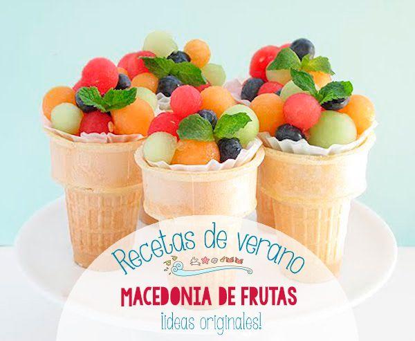 Macedonia De Frutas Recetas Infantiles Fruta Para Niños