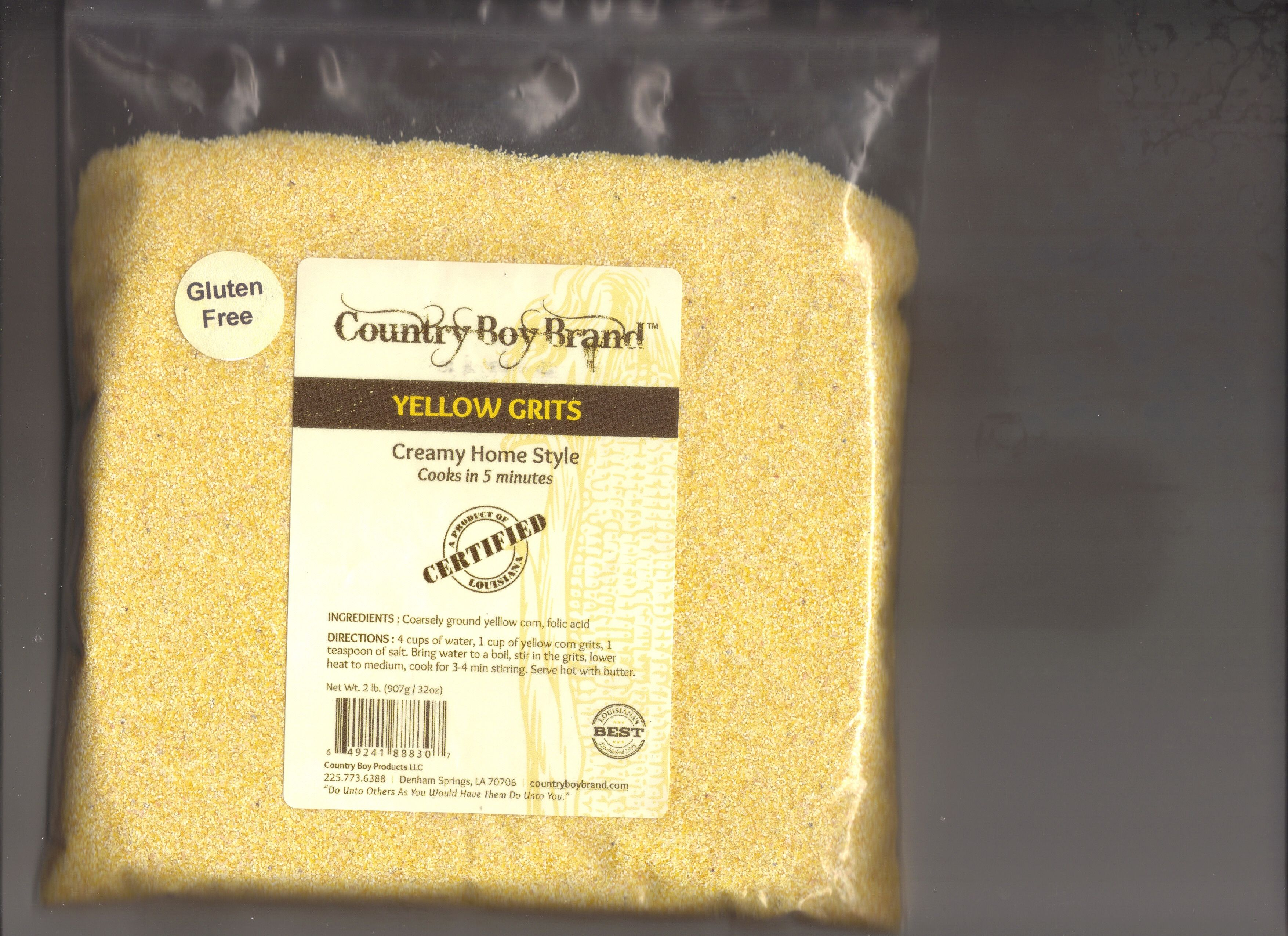 Country boy brand yellow grits creamy home style it cooks in 5