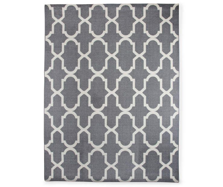 Living Colors Maples Collection Gray Tile Area Rug X Lots