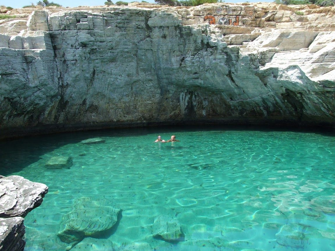 Thassos island greece the natural salt water pool at for Salt water pool