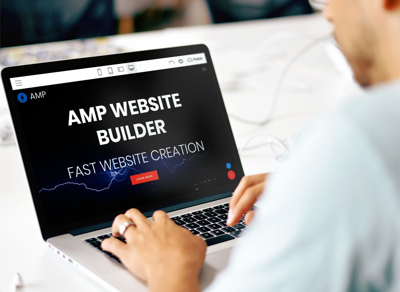 Mobirise v4.6 - AMP Website Builder!  Now it's possible to create Accelerated Mobile Pages (AMP) with Mobirise AMP Themes.  AMP is a set of rules with limitations that allows for building Google-friendly websites which load instantly on mobile devices.