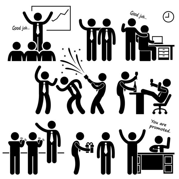 Four Employee Involvement Methods For Making Strong Community Stick Figures Pictogram Business Card Mock Up