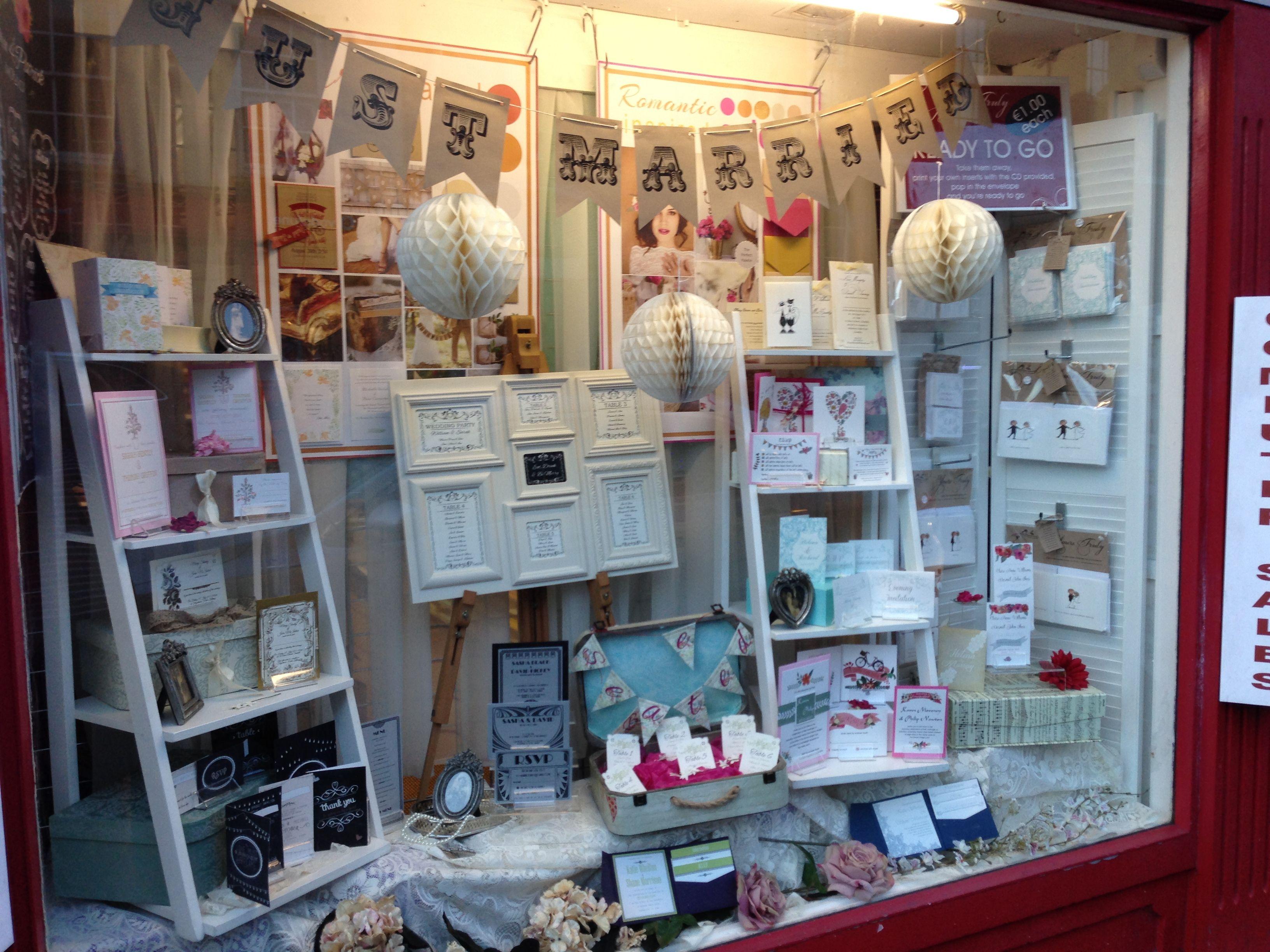 Exhibition Stand Invitation : Wedding stationery window display