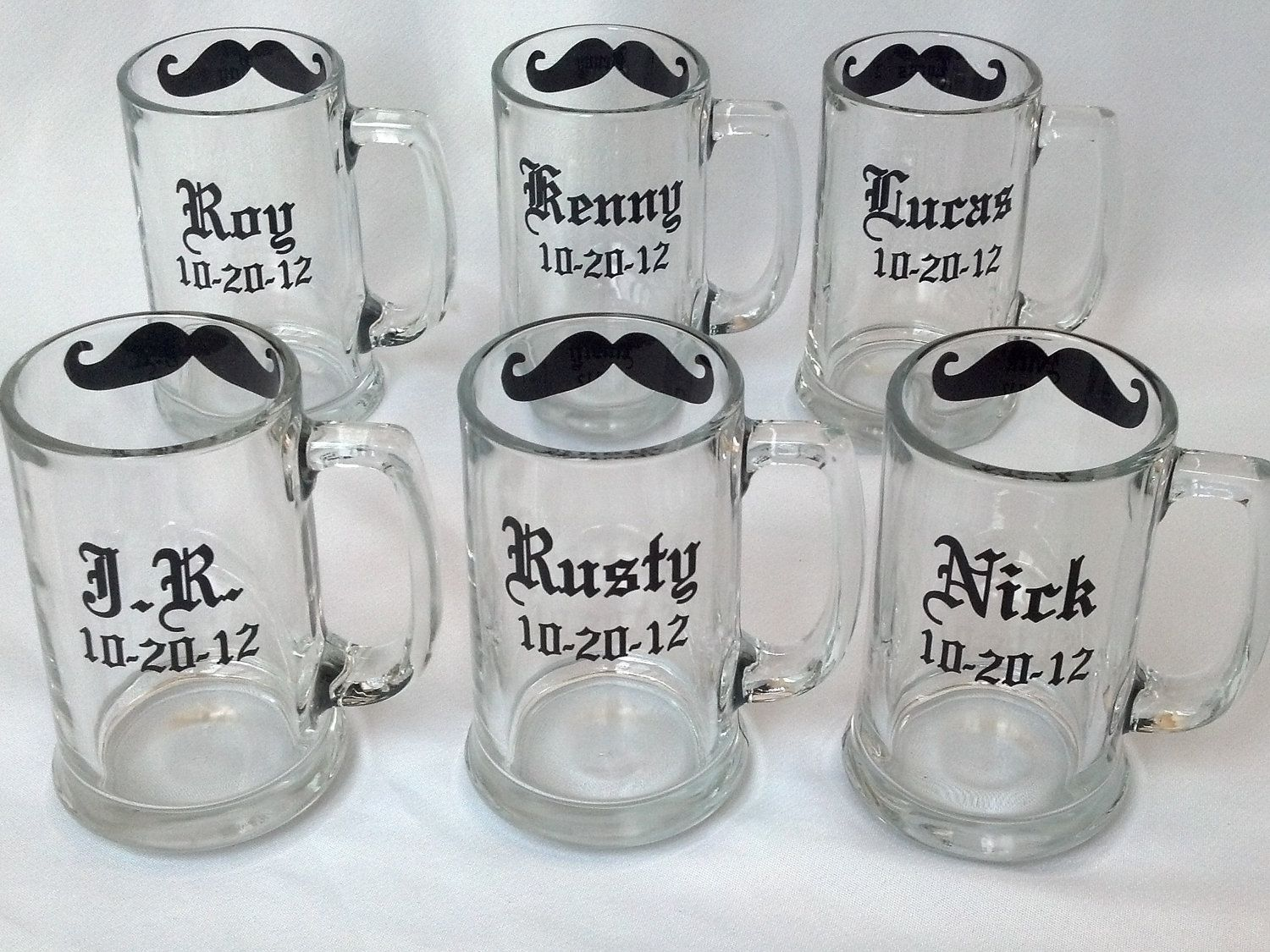 Gift for Groomsmen beer mugs 6 Chalkboard by WaterfallDesigns ...