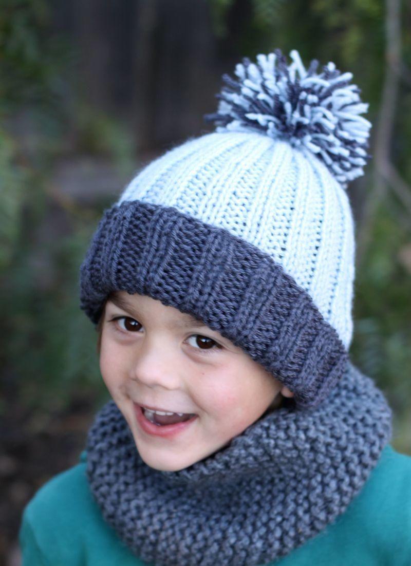 Beginner Easy Ribbed Pom Hat Knitted Hats Kids Knitted Hats Knitting Patterns Free Hats