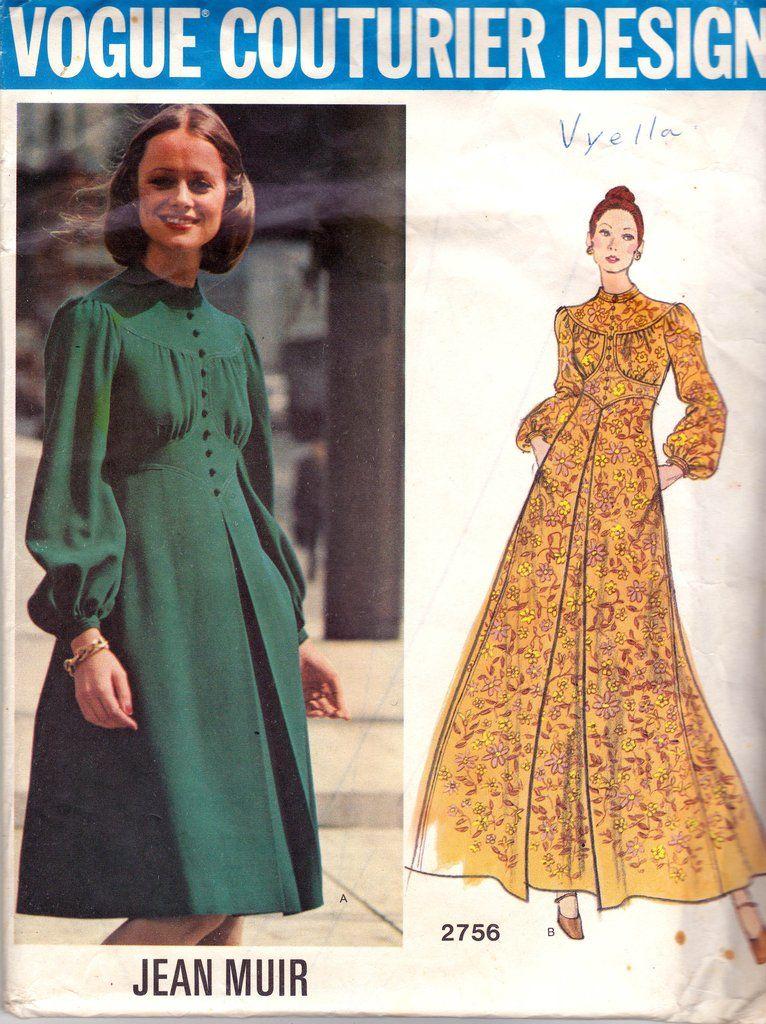 Vogue Couturier Design 2756 JEAN MUIR Boho Dress 70s Vintage Pattern ...